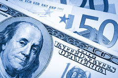 dollar dual eurosignalen USA Arkivfoton