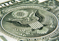Dollar - Eagle. A close up of the back of a dollar bill Royalty Free Stock Photography