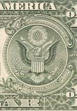 Dollar eagle banknote close up. Stock Image