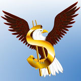 Dollar Eagle des Etats-Unis Photo libre de droits