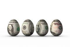 Dollar eggs Stock Image