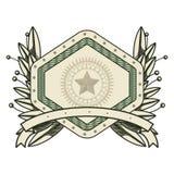 Dollar emblem seal  icon Royalty Free Stock Images
