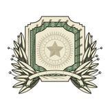 Dollar emblem seal  icon Royalty Free Stock Photo