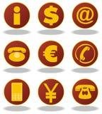 Dollar en andere pictogrammen Royalty-vrije Stock Fotografie