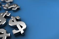 Dollar en argent illustration de vecteur