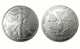Dollar en argent américain images libres de droits