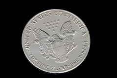 Dollar en argent des USA Photographie stock libre de droits
