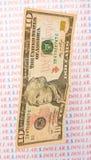 Dollar en baisse. Image stock