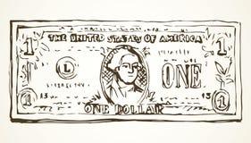 dollar en bakgrund som tecknar den blom- gräsvektorn Fotografering för Bildbyråer