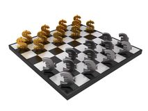Dollar en euro schaak royalty-vrije illustratie