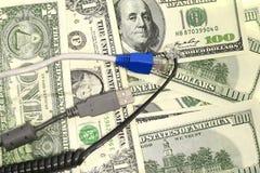 Dollar en Gadgets Stock Afbeelding
