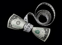 Dollar en meter Stock Afbeeldingen