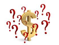 Dollar en question illustration stock