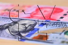 Dollar en Rmb stock fotografie