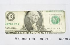 Dollar in envelope Stock Images