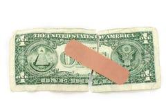 Dollar et bandage images stock