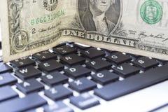 Dollar et clavier Photographie stock libre de droits