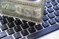 Dollar et clavier Images libres de droits