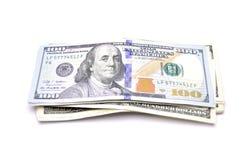 Dollar et d'autres devises sur le fond blanc Photographie stock libre de droits