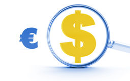 Dollar et euro Photo stock