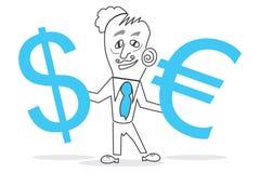 Dollar et euro Photos stock