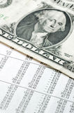 Dollar et financier Images stock