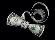 Dollar et mètre Images stock