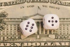 Dollar et paires de matrices Photos stock