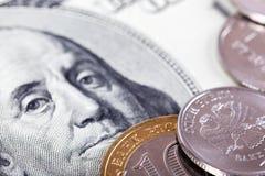 Dollar et rouble Photo stock