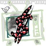 Dollar et TV illustration stock