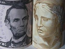 Dollar et vrai Photographie stock libre de droits