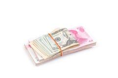 Dollar Etats-Unis et Chinois de RMB Images libres de droits