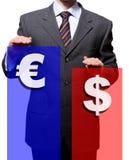 Dollar Eur stockfoto