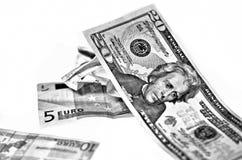 Dollar-Euro Stockfotos
