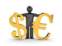 Dollar or euro Royalty Free Stock Photos
