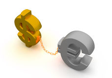 Dollar and euro Stock Photography