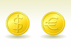 Dollar and Euro Royalty Free Stock Images