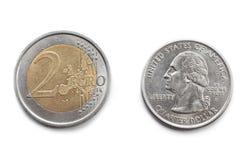 Dollar or euro? Stock Photo