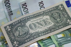 Dollar and euro for a background. Dollar and euro for a background Stock Photo