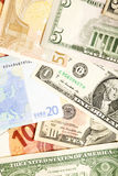 Dollar and Euro Currency Background Royalty Free Stock Image