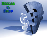 Dollar - euro currency concept Stock Image