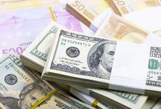 Dollar  and euro - money Stock Photo