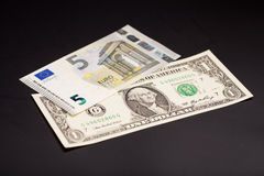 Dollar and euro money Stock Photo