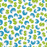 Dollar and euro Seamless pattern. Stock Photo