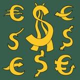 Dollar and Euro Stock Photos