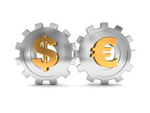 Dollar and euro system Royalty Free Stock Photos