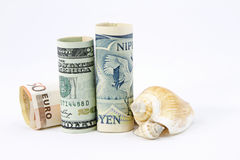 Dollar, Euro, Yen -- Allied Economies Royalty Free Stock Photos