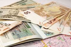dollar euros Arkivbild