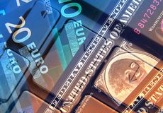Dollar and Euros Royalty Free Stock Image