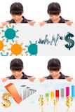 Dollar evolution collage Stock Images